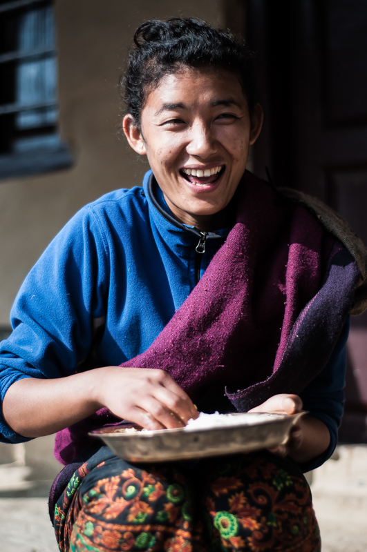The sweet laughter of a Gurung girl: what better sound to have echoing in my ears as I depart Ghandruk?