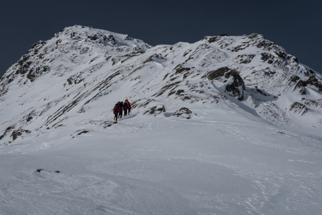 Guided team starting Forcan Ridge_