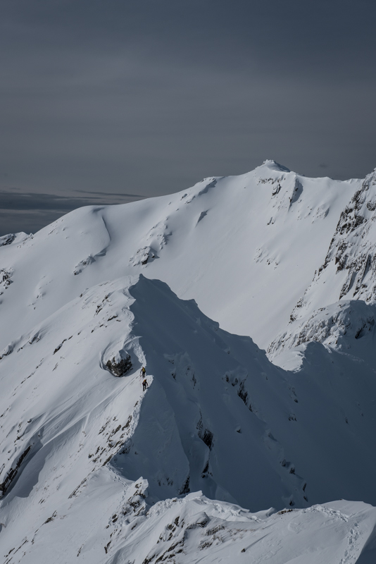 Roped pair on Forcan Ridge_