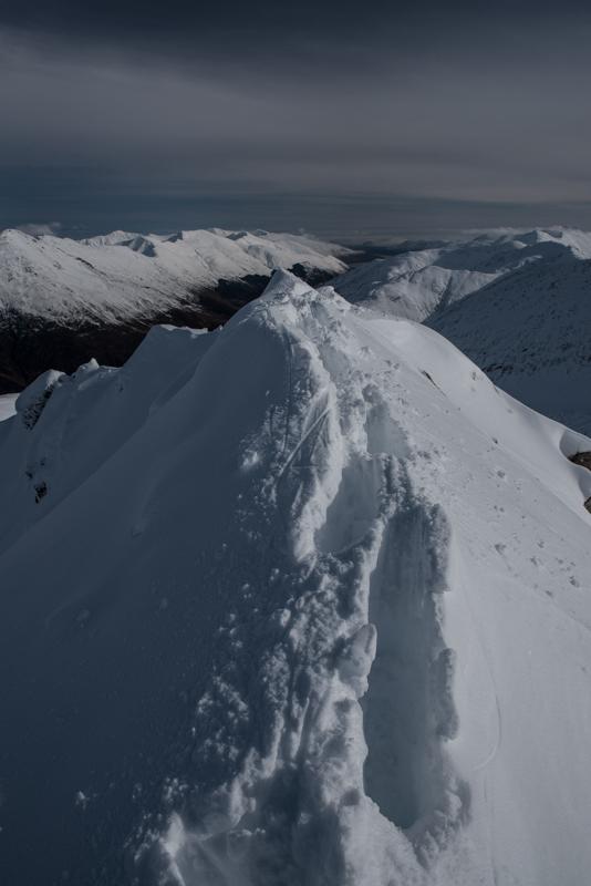 Summit crest Forcan Ridge_
